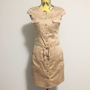 Guess Champagne Button Down Mini Dress Size 2